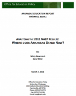 Analyzing 2011 NAEP Results